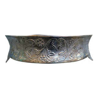Silver Plated Repoussé Cake Stand C. 1900 For Sale