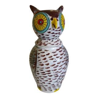 Mid Century Italian Owl Cookie Jar For Sale