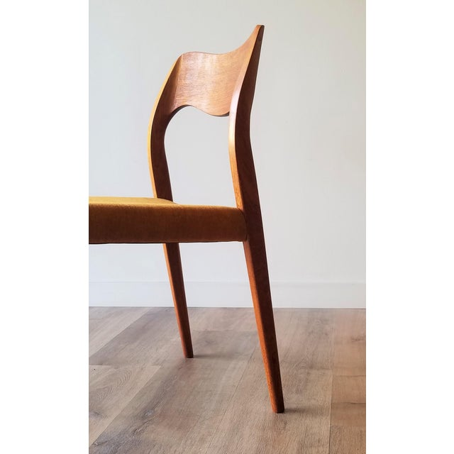 Wood Newly Upholstered 1960s Niels Moller Model 71 Dining Chairs - Set of 6 For Sale - Image 7 of 13