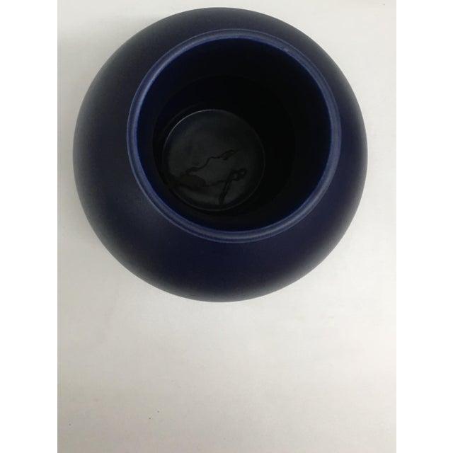 Raawii Strøm Dark Blue Vase For Sale - Image 4 of 8