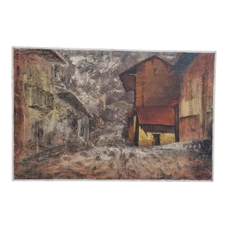 """1970s Vintage """"Huiro Calle"""" Painting by Alezandro Beltran For Sale"""
