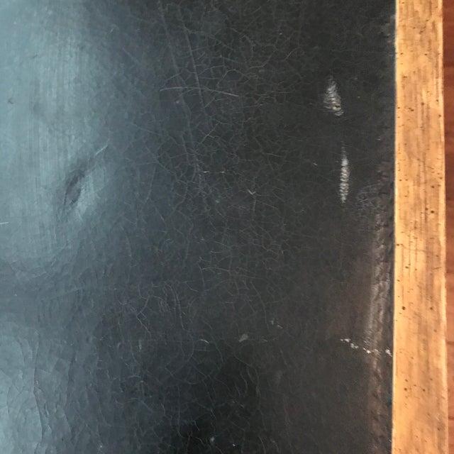 Metal Vintage Baker Furniture Walnut Campaign Style Partner Desk For Sale - Image 7 of 11
