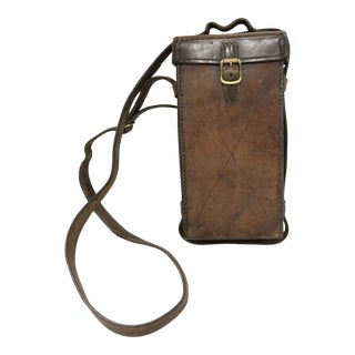 Antique English Leather Case For Sale