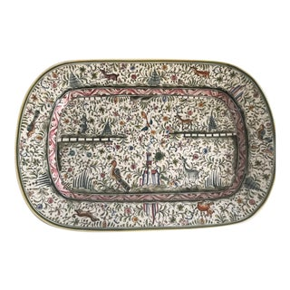 Late 20th Century Large Portuguese Serving Platter For Sale