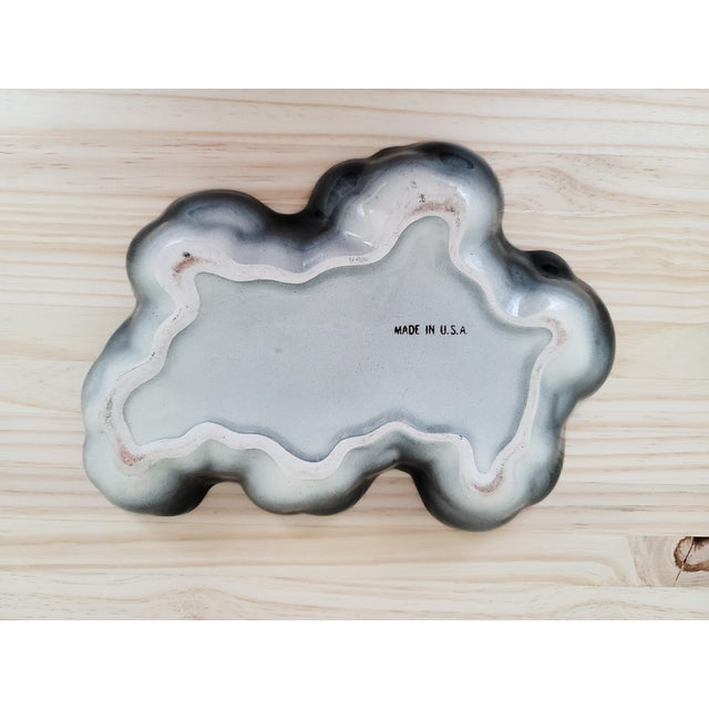 Vintage Organic Mid Century Ceramic Catchall For Sale In Dallas - Image 6 of 7