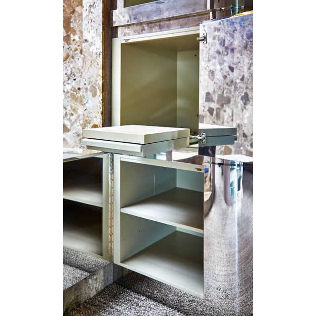 1980s Custom Large Chrome Cabinet by Steve Chase and Philip Socola, Circa 1980 For Sale - Image 5 of 6