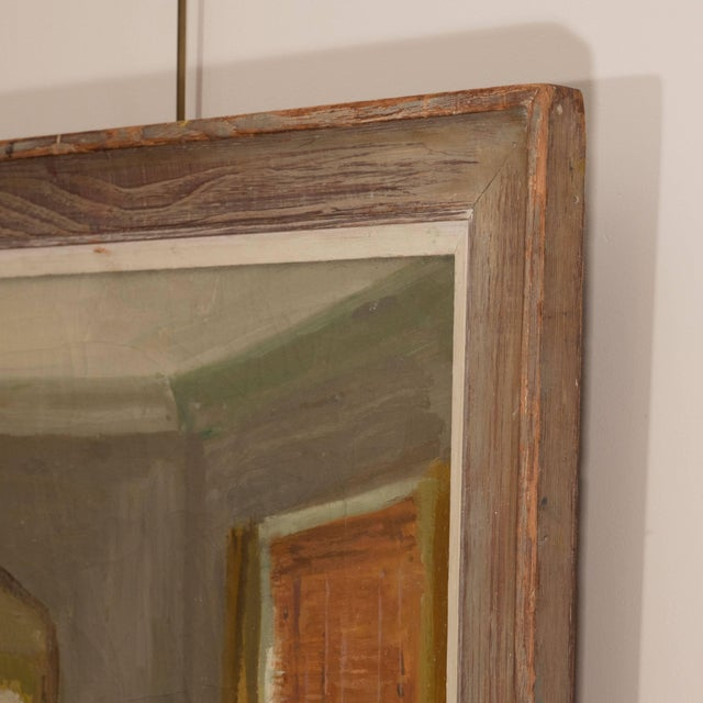 Framed Oil Painting of an Interior For Sale - Image 10 of 11