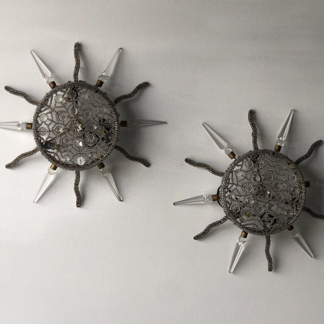 Silver Pair of Bagues Starburst Lights For Sale - Image 8 of 8