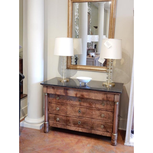 Early 19th C Walnut French Empire Commode For Sale - Image 11 of 12