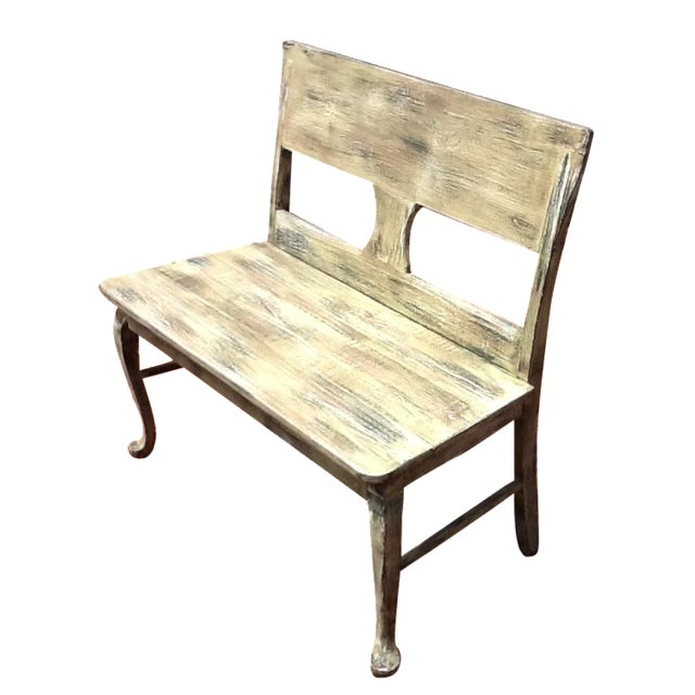 Rustic Distressed Bench - Image 1 of 6