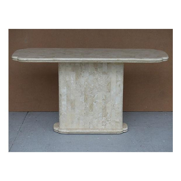 Maitland-Smith Style Tessellated Stone Console - Image 2 of 8