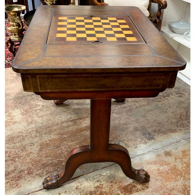 Maitland-Smith Leather Game Table For Sale In Tampa - Image 6 of 10