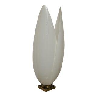 Large Rougier Floriform White Acrylic Lamp For Sale