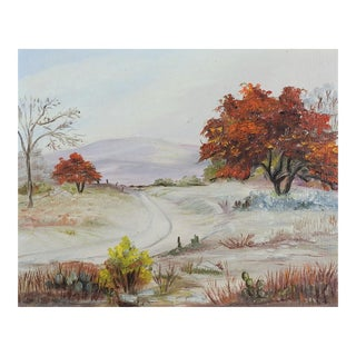 Impressionist Country Road Landscape Painting For Sale
