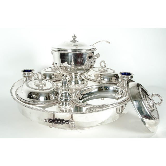English Silver Plated Revolving Serving Dish Set of 9 For Sale In New York - Image 6 of 12
