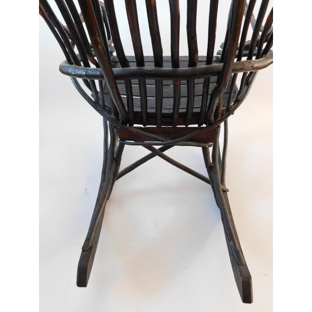 20th C. American Adirondack Twig Willow Rocking Chair For Sale - Image 10 of 13