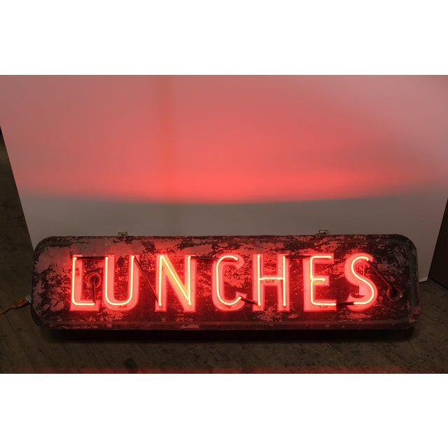 Americana 1930's Neon Sign Lunches For Sale - Image 3 of 5
