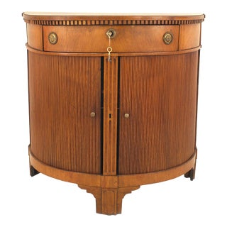 Continental Dutch Fruitwood Demilune Shaped Commode For Sale