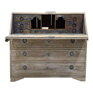 Shabby Chic Swedish Style Secretary Desk For Sale