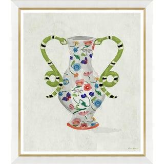 """""""Boa Vase in White"""" By Dana Gibson, Framed Art Print For Sale"""