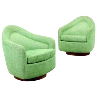 Pair of Milo Baughman Swivel Lounge Chairs, 1970, Usa For Sale