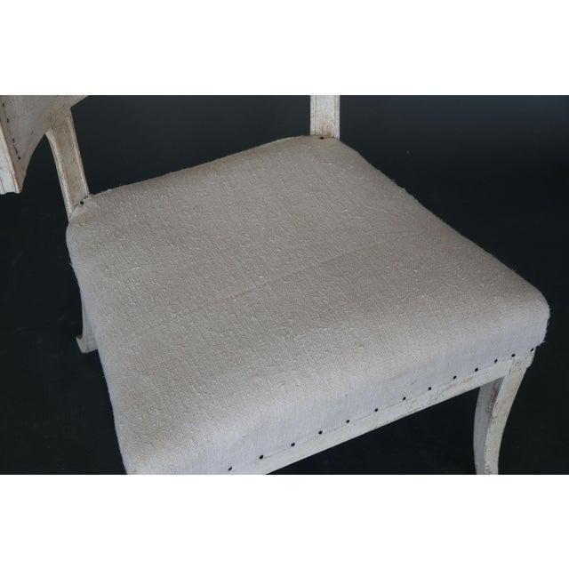 Antique 18th Century Large Gustavian Klismos Chair - Image 4 of 6