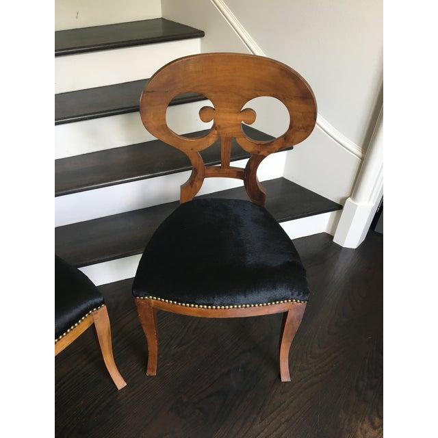 Biedermeier Pair of 19th Century Biedermeier Chairs For Sale - Image 3 of 9