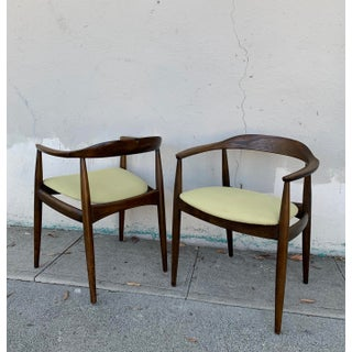 Mid Century Danish Modern Illum Wikkelso for Niels Eilersen Armchairs- A Pair Preview