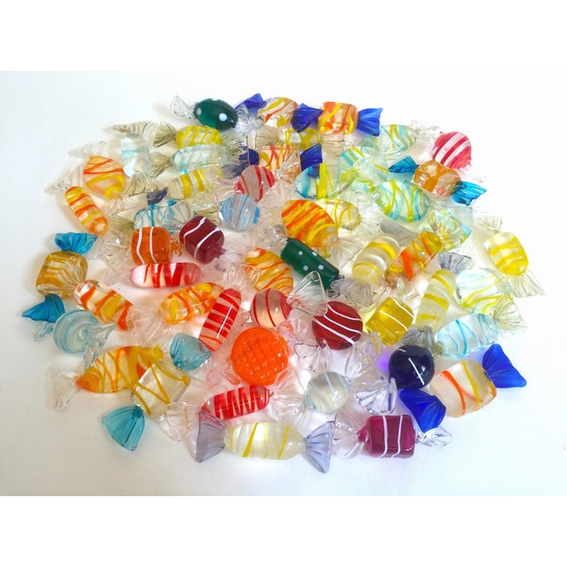 Vintage Mid Century Modern Italian Hand Blown Murano Art Glass Candies - Set of 52 For Sale - Image 11 of 11
