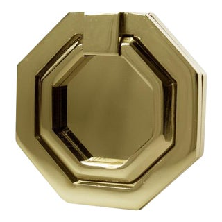 Facet-03 Polished Brass No Lacquer Pull For Sale