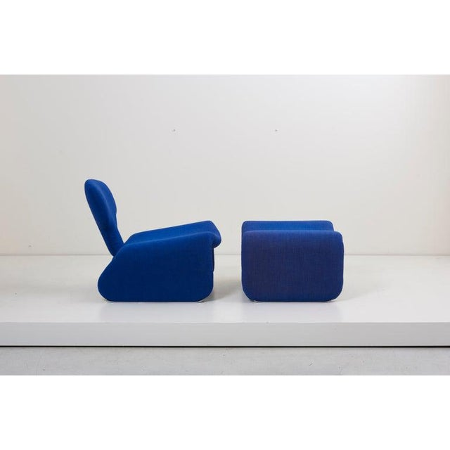 Djinn Lounge Chair and Ottoman by Olivier Mourgue for Airborne, France, 1960s For Sale - Image 11 of 13