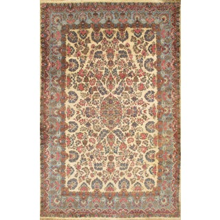 """Pasargad Semi-Antique Royal Persian Kerman Hand-Knotted Rug - 10′ × 15′8"""" For Sale"""