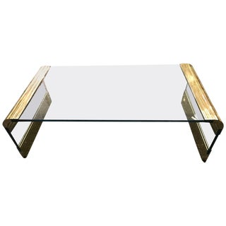 Coffee Table by Pace Collection Waterfall Design For Sale