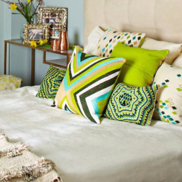 Green Diamond Pillow Cover - Image 5 of 5