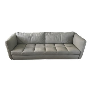 "Modern Roche Bobois ""Nonchalance"" Full Leather Sofa For Sale"
