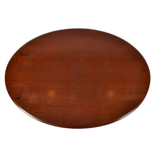 19th Century Traditional Oval Mahogany Center Table For Sale - Image 9 of 11