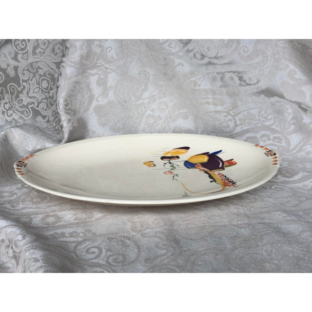 Paden City Pottery Southwestern Mexico Transferware Design Platter For Sale - Image 10 of 13