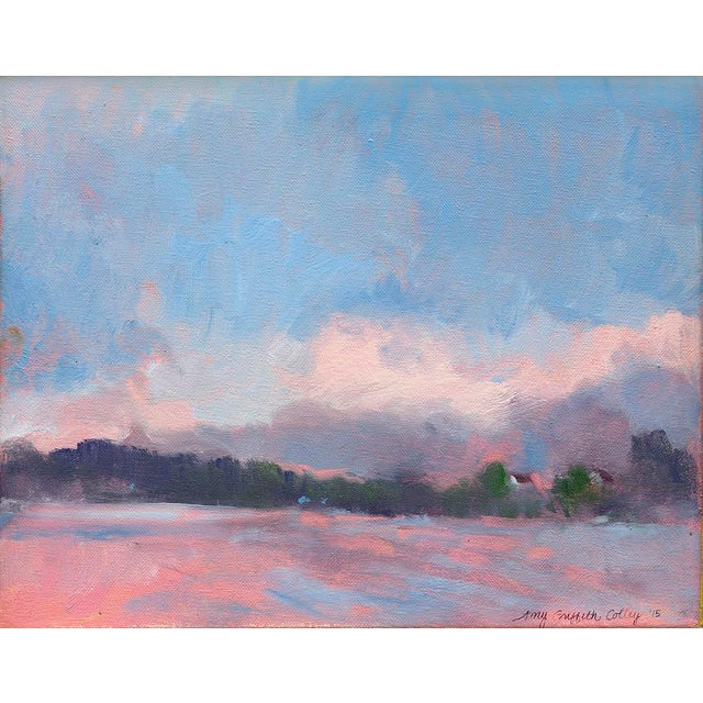 """""""Foggy Morning"""" Contemporary Impressionist Style Seascape Print by Amy Griffith Colley For Sale"""