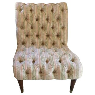 Tufted Slipper Chair For Sale