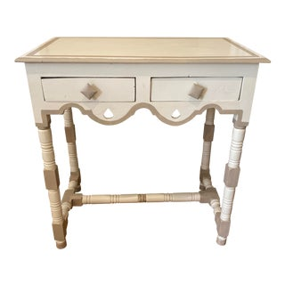 1940s Hand-Painted Cream Side Table For Sale