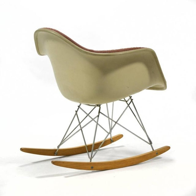 """Eames """"Baby Rocker"""" Rar by Herman Miller with Alexander Girard Upholstery For Sale In Chicago - Image 6 of 11"""
