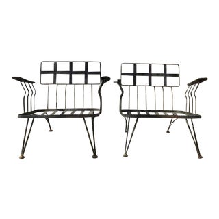 1950s Russell Woodard Patio Chairs - a Pair For Sale