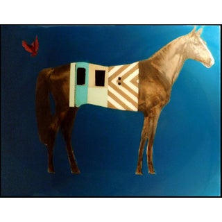 """Anke Schofield """"Horse Train"""" Mixed Media of Horse For Sale"""