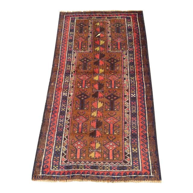 Handmade Persian Baluchi Rug - 2′4″ × 4′5″ - Image 1 of 9
