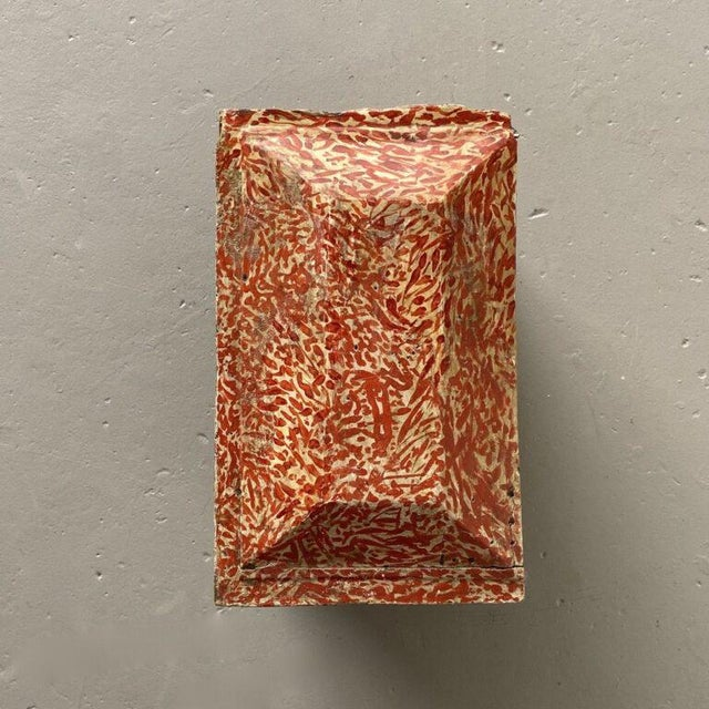 Red 19th Century Miniature Italian Cabinet For Sale - Image 8 of 9