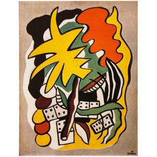 "1948 Fernand Léger Original Period ""Dominoes Composition"" Lithograph From Paris For Sale"