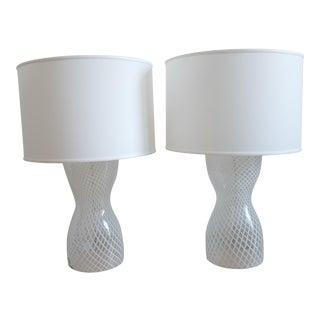 Hourglass Ribbon Lamp Baker Furniture by Barbara Barry - a Pair For Sale