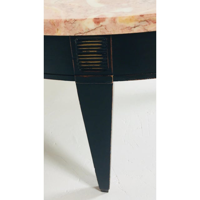 1950s Empire Marble Coffee Table For Sale - Image 4 of 6