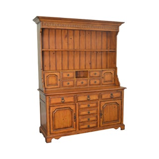 Lexington Palmer Home Collection Country French Step Back Hutch Cupboard For Sale