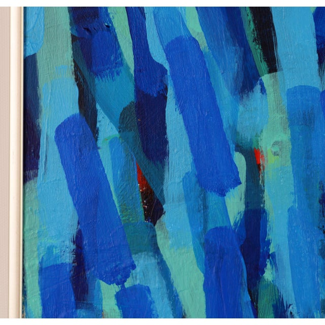 'Through the Blue' Original Abstract Painting by Lars Hegelund, 25 X 25 In. For Sale - Image 9 of 11